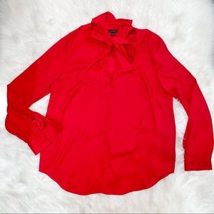Ann Taylor red beautiful blouse size Large